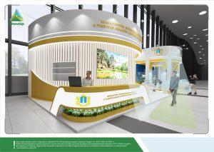 3D проект выставочного стенда для Мин Агропром Комплекса и развития Сельских территорий