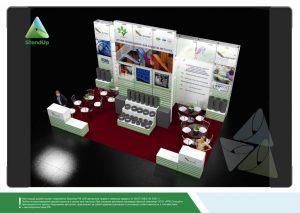 3D проект выставочного стенда для Коротек