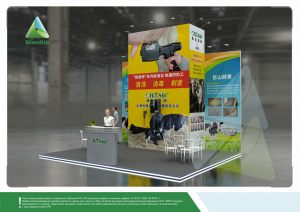 3D проект выставочного стенда для Премьер Агро