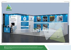3D проект выставочного стенда для Опытный Завод