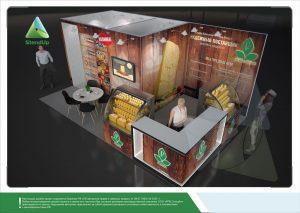 3D проект выставочного стенда для Регион Ресурс