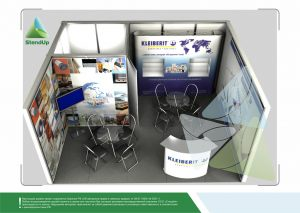 3D проект выставочного стенда для Клейберит