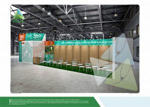 3D проект выставочного стенда для Полотняно-заводской бумажной мануфактуры