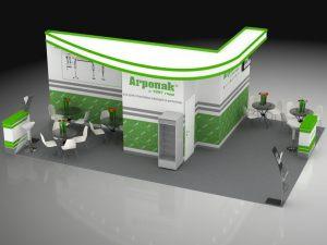 """3D проект выставочного стенда для """"Агропак"""""""