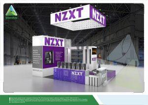 3D проект выставочного стенда для компании «NZXT»
