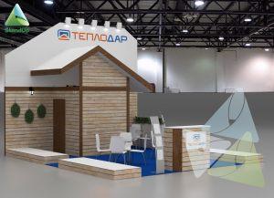 3D проект выставочного стенда для компании «Теплодар»