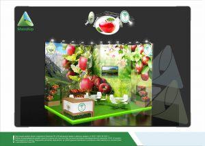 """3D проект выставочного стенда для """"Сады Баксана"""""""