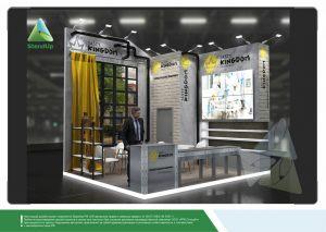 """3D проект выставочного стенда для """"Гудвин"""""""