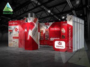 3Д проект выставочного стенда для Премиал Фурнитура. Выставка «Мебель 2017»