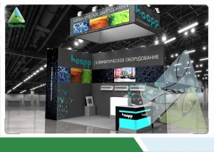 3D проект выставочного стенда для Академия климата