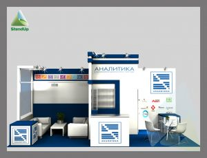 3Д проект для «АНАЛИТИКА». Выставка «Лабораторный город» в рамках III Российского конгресса лабораторной медицины»