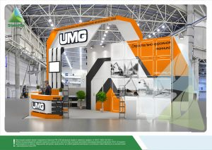 3D проект выставочного стенда для Эксмаш (UMG)
