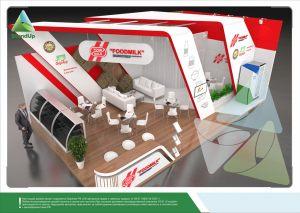 3D проект выставочного стенда для ФудМилк