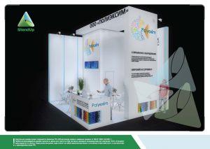 3D проект выставочного стенда для Полиэксим