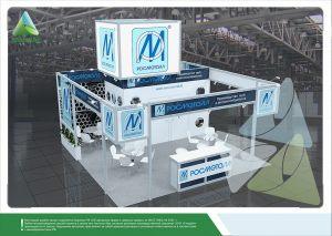 3D проект выставочного стенда для Росметалл