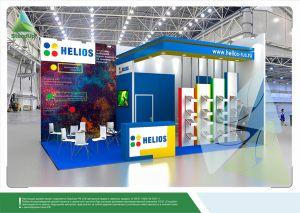 """3D проект выставочного стенда для """"Хелиос"""""""