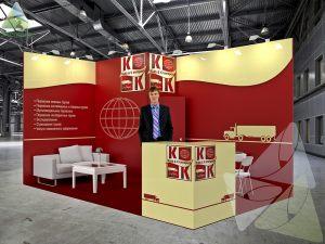 3D проект выставочного стенда для K&K