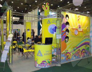Выставочный стенд на основе конструктора Джокер для Аконит