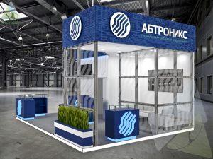 3D проект выставочного стенда для Абтроникс