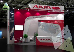 3D проект выставочного стенда для AKFA