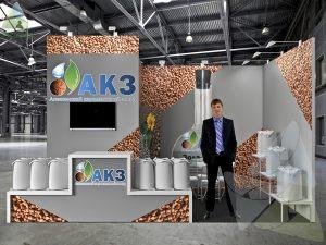 3D проект выставочного стенда для АКЗ
