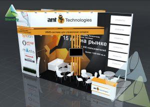 3D проект выставочного стенда для antTechnologies