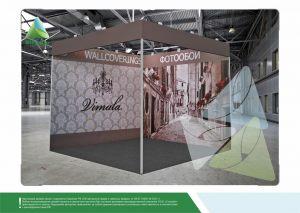 3D проект выставочного стенда для Борг