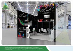 3D проект выставочного стенда для компании «OU.Nail»