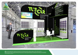 3D проект выставочного стенда для компании «Технорама»