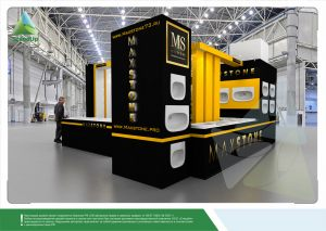 3D проект выставочного стенда для компании «MaxStone»