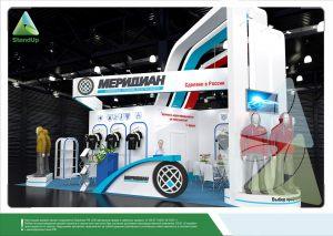3D проект выставочного стенда для компании «Меридиан»
