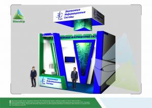3D проект выставочного стенда для Электронные Информационные Системы