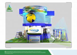 3D проект выставочного стенда для РосТурпласт