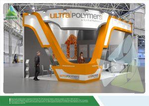 3D проект выставочного стенда для Ультраполимеры