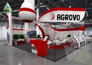 3D проект выставочного стенда для Агрово