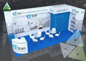 3D проект выставочного стенда для itScan
