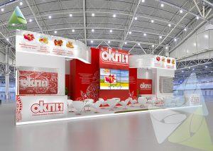 3D проект выставочного стенда для ОКПИ