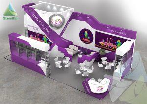 3D проект выставочного стенда для Юнион