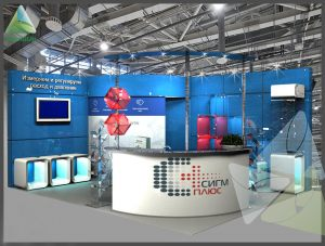 3D проект выставочного стенда для Сигм Плюс