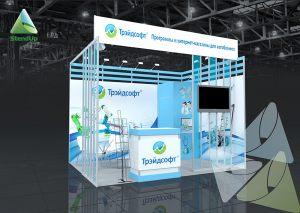 3D проект выставочного стенда для Трейдсофт