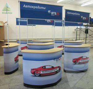 Мобильные промо столы для клиента ВТБ 24