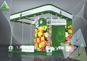 3D проект выставочного стенда для Akhmed Fruit Co.