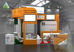 3D проект выставочного стенда для Петромаш Сервис
